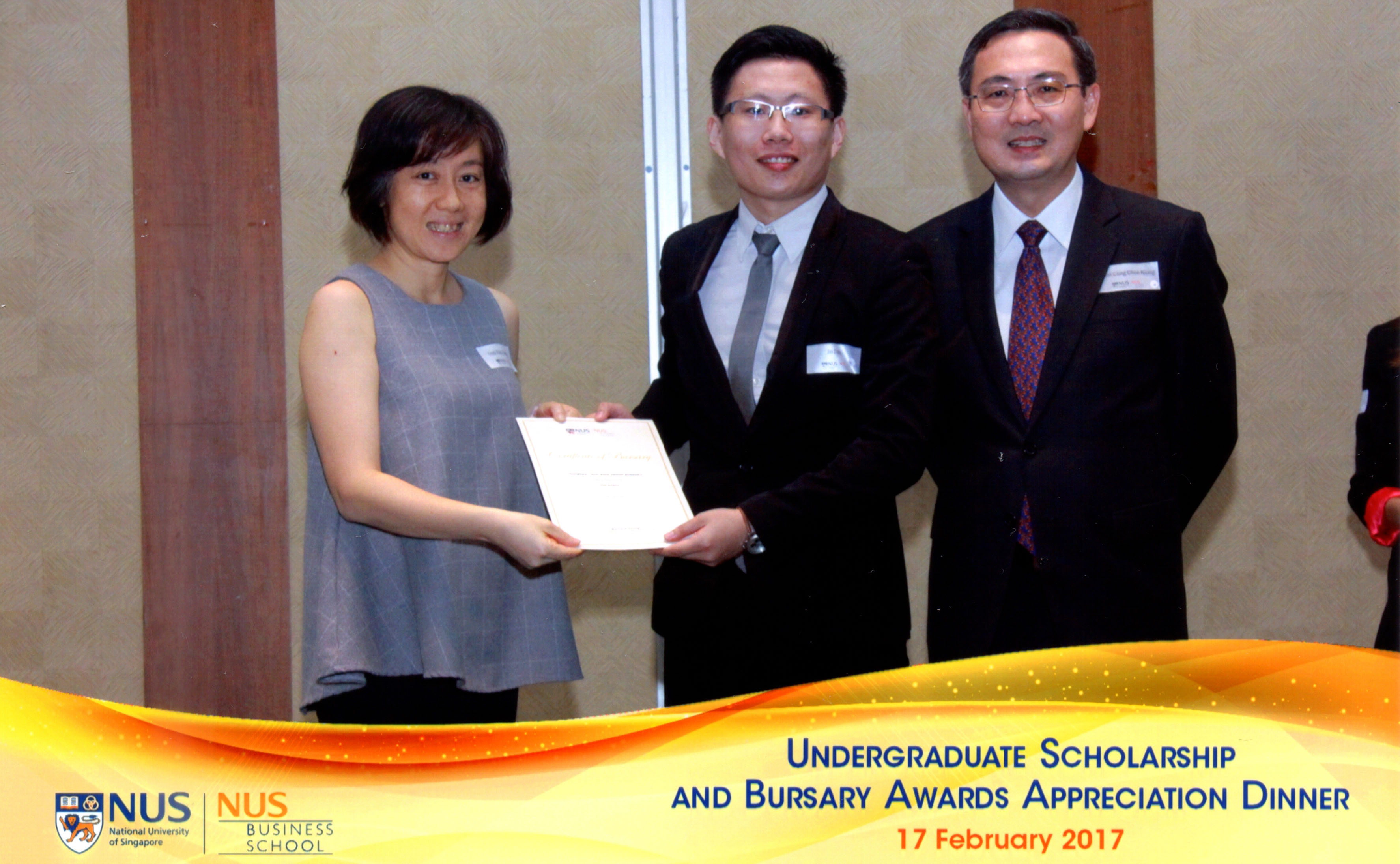 MHC Asia Group Bursary Awarding Certificate